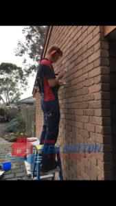 Ryan D installing Lantern light